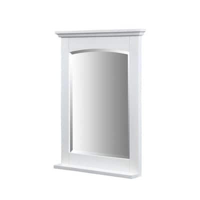 Kent 32 in. x 24 in. Ash Framed Wall Mirror in Whitewash