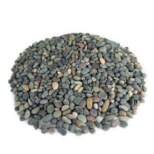 0.50 cu. ft. 3/8 in. Mixed Mexican Beach Pebble Smooth Round Rock for Gardens, Landscapes and Ponds