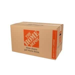 Heavy Duty Large Moving Box 25-Pack (28 in. L x 15 in. W x 16 in. D)