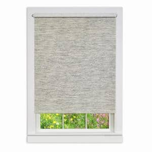 Privacy Heather Gray Cordless Light Filtering Woven Fabric Roller Shade 63 in. W x 72 in. L