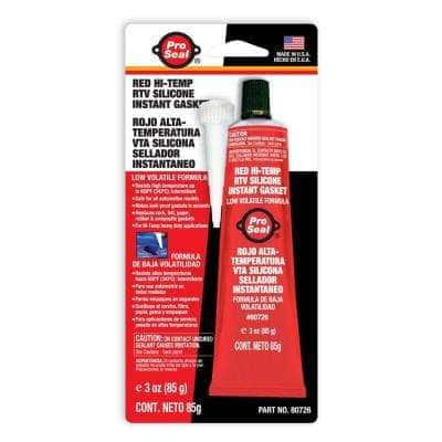 3 oz. Red Hi-Temp RTV Silicone Instant Gasket (12-Pack)
