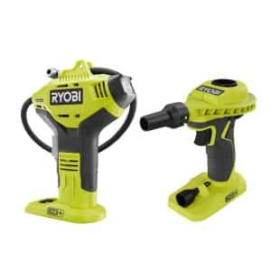 ONE+ 18V Cordless Power Inflator and High Volume Inflator 2-Tool Combo Kit (Tools Only)