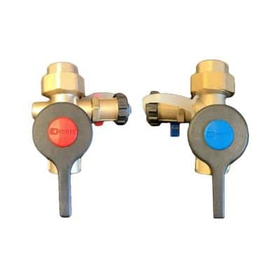 3/4 in. Lead Free Sweat Isolation Valve Kit with Male 500K BTUH Pressure Relief Valve for Select Tankless Water Heaters
