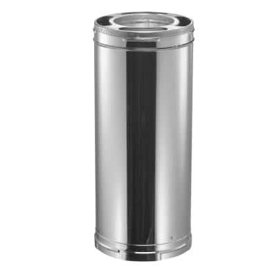 DuraPlus 6 in. x 24 in. Stainless Steel Triple-Wall Chimney Stove Pipe