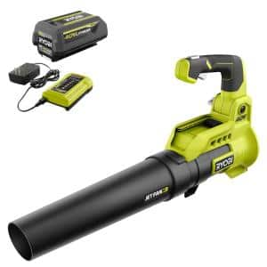 110 MPH 525 CFM 40-Volt Lithium-Ion Cordless Variable-Speed Jet Fan Leaf Blower with 4.0 Ah Battery and Charger Included