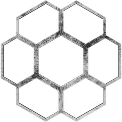 1 in. x 38 in. x 38 in. Florin Architectural Grade PVC Pierced Ceiling Medallion