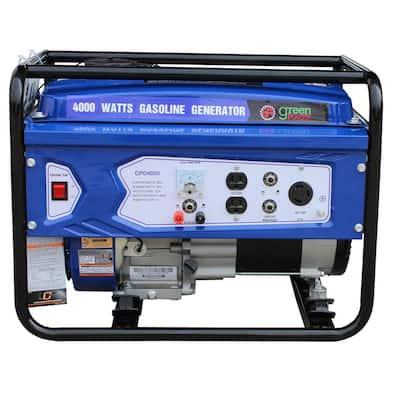 Green Power 4000/3000-Watt Gasoline Powered Recoil Start Portable Generator with 208cc 7HP LCT Engine
