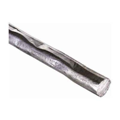 118 in. x 3/8 in. x 3/8 in. Round Hammered Raw Forged Long Bar