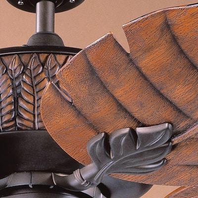 Fern Leaf 52 in. Indoor/Outdoor Oil Rubbed Bronze Ceiling Fan