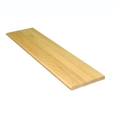 1 in. x 11.5 in. x 60 in. Prefinished Natural Red Oak Wood Box Tread