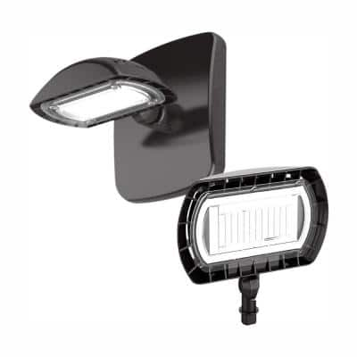 100-Watt Equivalent Integrated Outdoor LED Flood Light and Wall Mount Kit, 1500 Lumens, Outdoor Security Lighting
