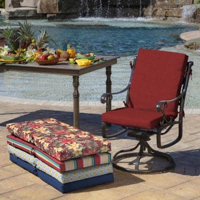 20 x 44 Ruby Leala Texture Outdoor Dining Chair Cushion