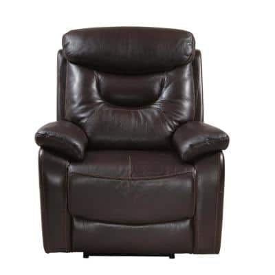 Brown Summit Power Recliner with USB