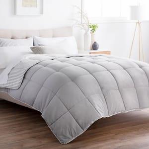 3-Piece Coastal Gray Oversized King Comforter Set