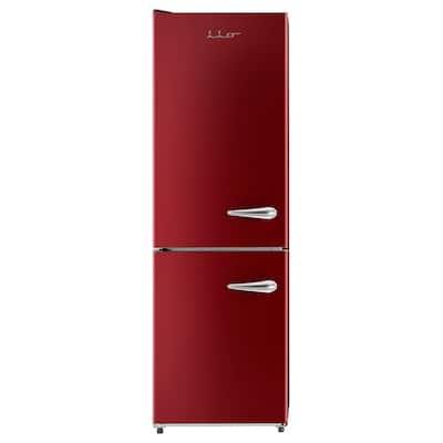 11 cu. ft. Retro Frost Free Bottom Freezer Refrigerator in Wine Red