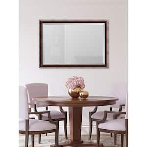 Medium Rectangle Walnut Beveled Glass Classic Mirror (40 in. H x 28 in. W)