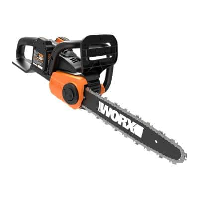 POWER SHARE 40-Volt 14 in. Cordless Chainsaw w/ Auto-Tension and Brushless Motor (Batteries 2x20V and Charger Included)