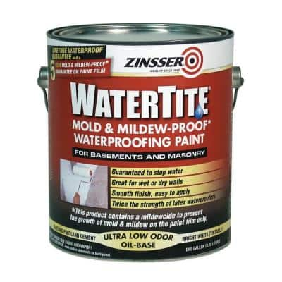 1 Gal. WaterTite Mold and Mildew-Proof White Oil Based Waterproofing Interior/Exterior Paint (2-Pack)