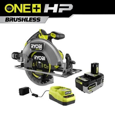 ONE+ HP 18V Brushless Cordless 7-1/4 in. Circular Saw Kit with (1) 4.0 Ah Battery and Charger