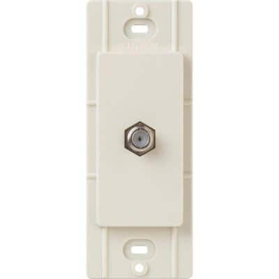 Claro Coaxial Cable Jack, Light Almond