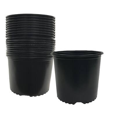 3 Gal. Plastic Nursery Trade Pots (11.3 l. /693cu in. ) (24-Pack)