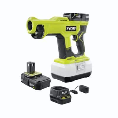 ONE+ 18V Cordless Handheld Electrostatic Sprayer Kit with (2) 2.0 Ah Batteries and Charger