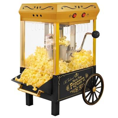 390 W 2.5 oz. Black Kettle Popcorn Maker with Lighted Interior