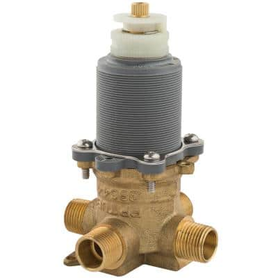 1/2 in. Thermostatic Temperature and Volume Control Tub and Shower Valve and Cartridge