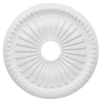 20 in. White Soleil Ceiling Medallion