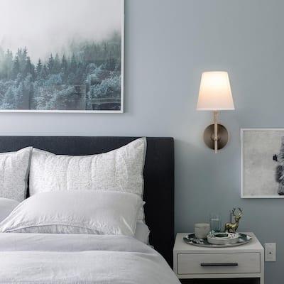 1-Light Brushed Nickel Wall Sconce Vanity Light