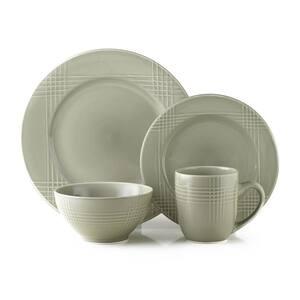16-Piece Casual Gray Ceramic Dinnerware Set (Service for 4)