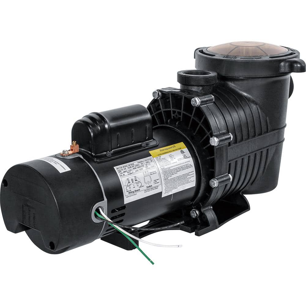 Xtremepowerus 1 5 In Npt 2hp Inground Above Ground Swimming Pool Variable Speed Pump 75039 H The Home Depot