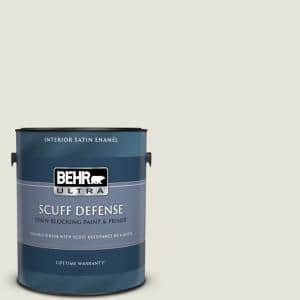 1 gal. Home Decorators Collection #HDC-NT-21 Weathered White Extra Durable Satin Enamel Interior Paint & Primer