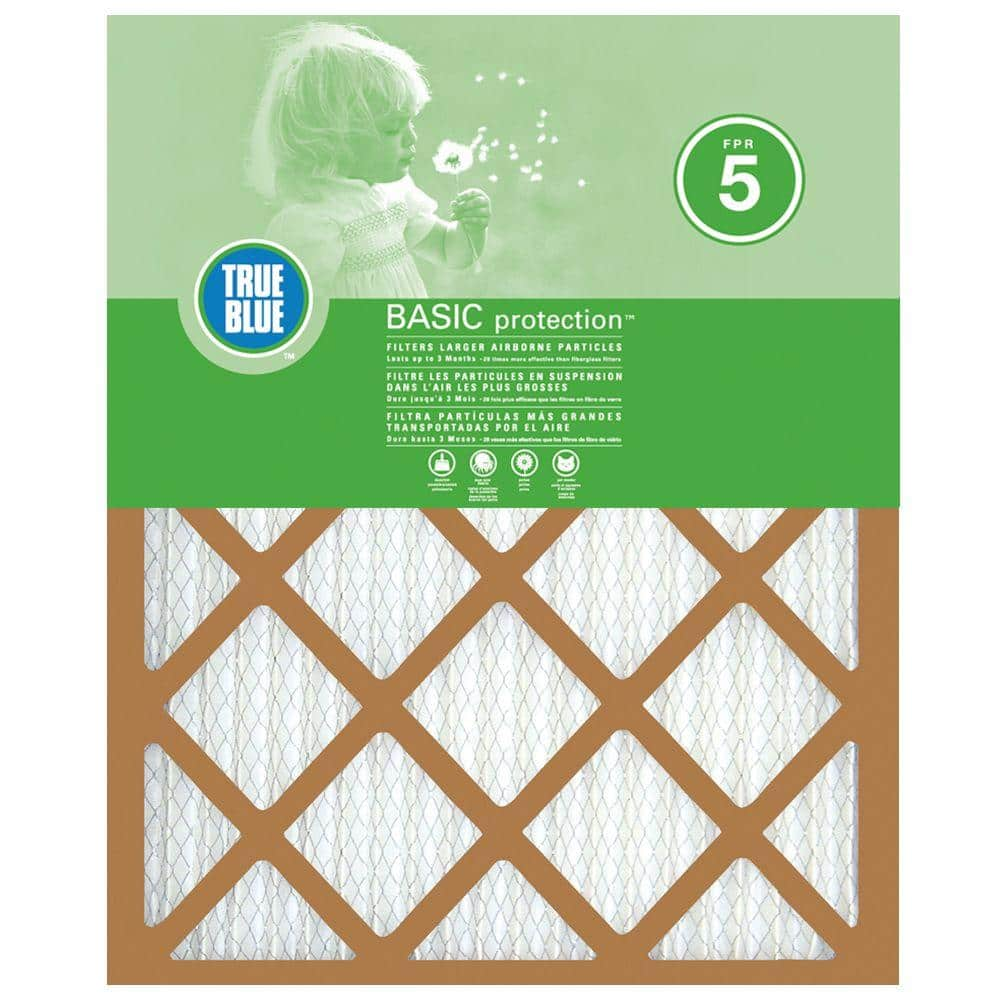 True Blue 18 X 20 X 1 Basic Fpr 5 Pleated Air Filter Hd218201 The Home Depot