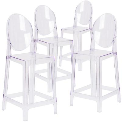 Transparent Crystal Ghost Counter Stools (Set of 4)