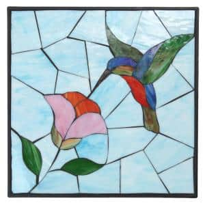 1 in. x 12 in. x 12 in. Square Polypropylene Hummingbird Decorative Garden Step Stone