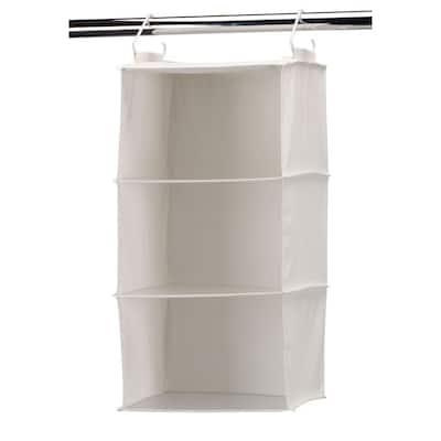 3 Shelf Hanging Organizer with Plastic Shelves