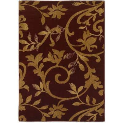 Red Oriental 5 X 8 Area Rugs Rugs The Home Depot