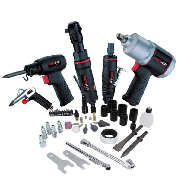 50 Piece Air Compressor Tool Kit Storage Case Auto Car Tire Changing Blow Gun