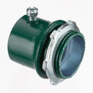 1/2 in. Color Coded Green EMT Connectors (50-Pack)