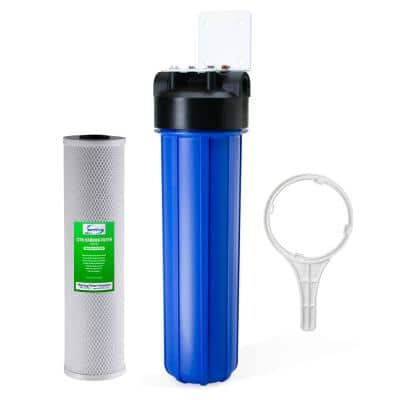 1-Stage Whole House Water Filtration System with 20 in. Carbon Block