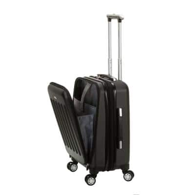 Expandable Titan 19 in. Hardside Spinner Laptop Carry-On Suitcase, Black