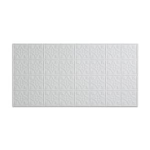 Traditional #1 2 ft. x 4 ft. Glue Up Vinyl Ceiling Tile in Matte White (40 sq. ft.)
