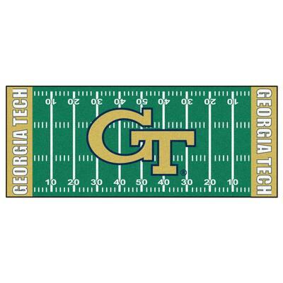 Georgia Tech 3 ft. x 6 ft. Football Field Rug Runner Rug