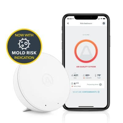 Wave Mini Battery Operated Smart Indoor Air Quality Monitor