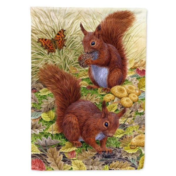 Caroline S Treasures 11 In X 15 1 2 In Polyester Red Squirrels Garden Flag 2 Sided 2 Ply Asa2133gf The Home Depot