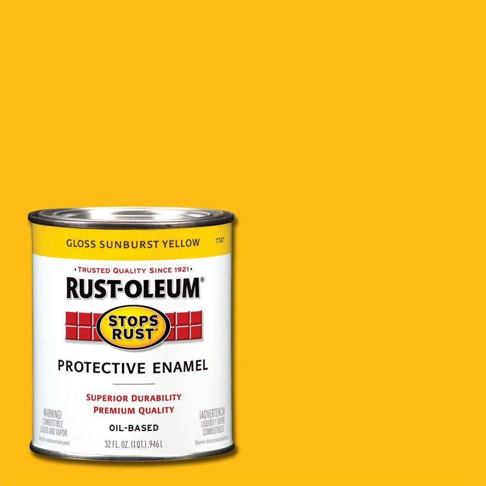 1 qt. Protective Enamel Gloss Sunburst Yellow Interior/Exterior Paint