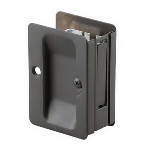 3-7/32 in. Black Pocket Door Pull with Passage Handle