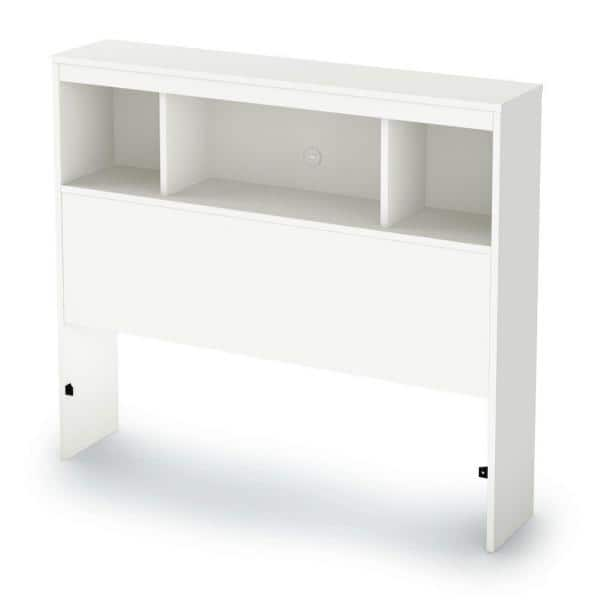 South Shore Spark Twin-Size Bookcase Headboard in Pure White | The Home Depot