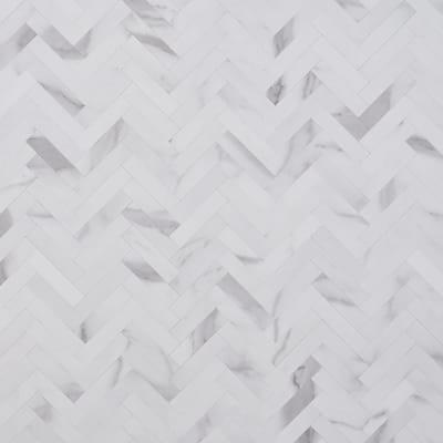 Luxe Core Herringbone Calacatta 10.31 in. x 10.31 in. SPC Peel and Stick Tile (0.73 Sq. Ft. / Sheet)